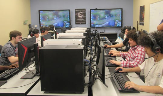 Students compete in esports.