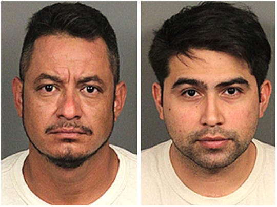 Gerardo Chica Cabrera, 39 (left), and Adolfo Garcia Jr., 27, were arrested in the crackdown on illegal marijuana grows.