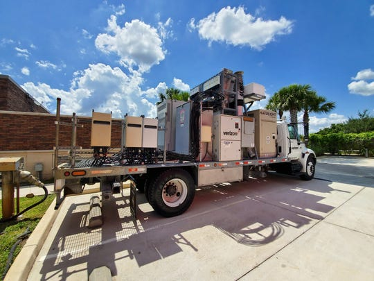 Verizon emergency response trucks will be deployed to areas of need during Hurricane Dorian.
