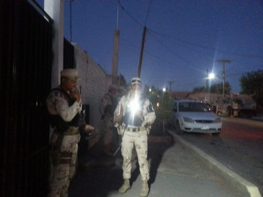 National Guard troops unsuccessfully attempted to conduct an immigration inspection inside the migrant shelter in Agua Prieta, Sonora, on June 23, 2019.
