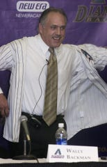 Diamondbacks manager Wally Backman was introduced on Nov. 1, 2004.