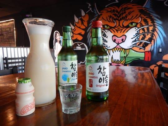 Soju is blended with juice and yogurt to make cocktails at Drunken Tiger in Mesa.