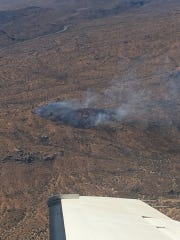 Lightning-caused brush fire grows to 200 acres northeast of Cave Creek
