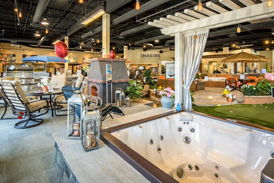 Checking out the selection of hot tubs and swim spas in a showroom gives you the luxury of time and removes the pressures of a home show.