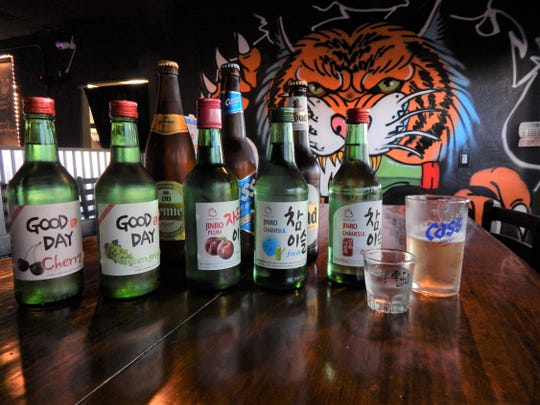 Classic and fresh soju available at Drunken Tiger restaurant