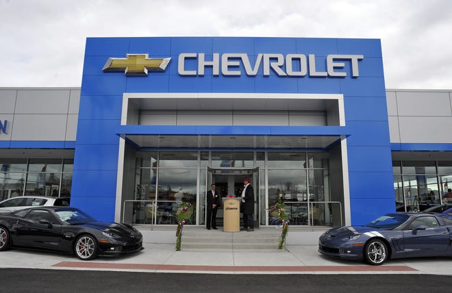 The showroom at Champion Chevrolet in Reno during the dealership's grand opening on Thursday, March 15, 2012.
