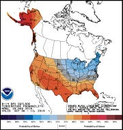 Temperature outlook for Sept. 6-12