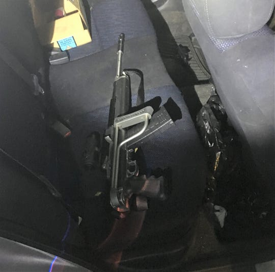 A firearm found in the backseat of a car during a traffic stop in Salem.