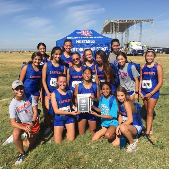 The San Angelo Central High School girls cross country team finished second at the Tall City Cross Country Invitational Aug. 24, 2019, in Midland, Texas.