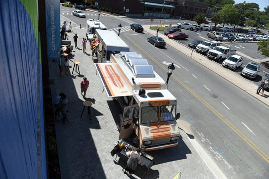 A new food truck pad was unveiled in downtown Salisbury on Friday, Aug. 30, 2019.  The pad is just phase one of the city's Town Square project.