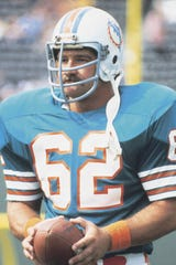 Jim Langer, a former South Dakota State graduate, is shown with the Miami Dolphins.