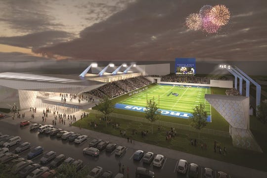 A rendering of the new Dakota State University athletic complex.