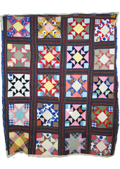From the Cedar Chest exhibition, Star Quilt, c. 1970s by Christine DuPont, collection of Alice DuPont