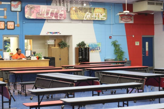 The old cafeteria at Fairview Middle School was turned into the media center and library.