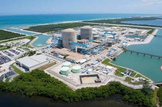 An aerial view of the St. Lucie Nuclear Power Plant in St. Lucie County, Fla., is shown Thursday, Sept. 2, 2010.