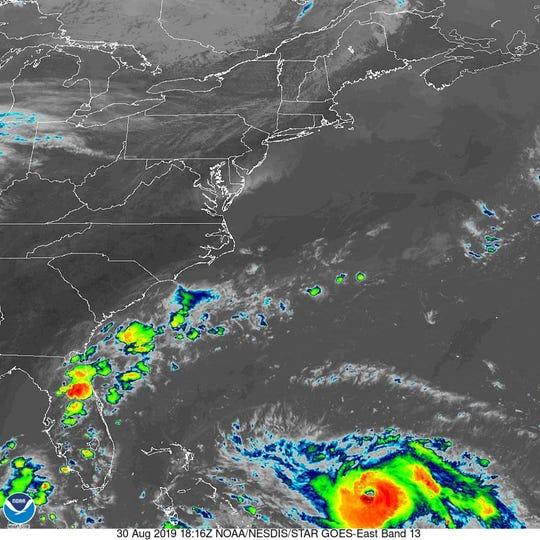 Hurricane Dorian 2 p.m. Aug. 30, 2019