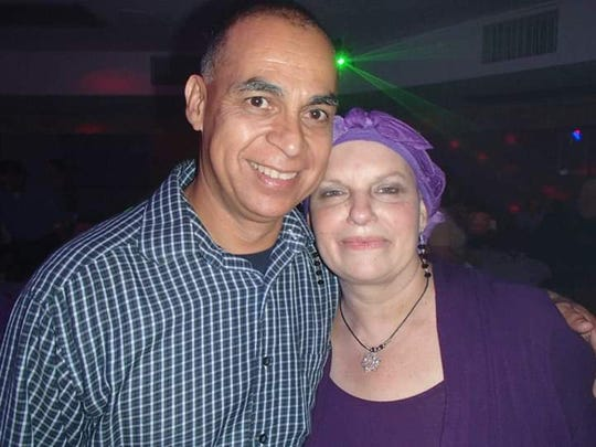 Julio and Paula Monarez Diaz at a special fundraiser organized by friends to support her fight with cancer.