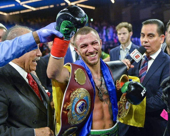 Vasiliy Lomachenko, who lives in Camarillo and trains in Oxnard, faces Luke Campbell on Saturday in London.