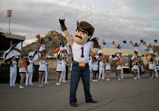 Celebrations for Minerpalooza get an early start Friday morning, Aug. 30, 2019, at the University of Texas at El Paso. The Miners are marking the start of the new athletic season under a new president, Heather Wilson.