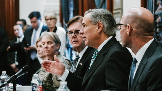 "Gov. Greg Abbott convened the first meeting of the Domestic Terrorism Task Force on Friday, Aug. 30, 2019, at the Capitol in Austin. ""This task force is committed to addressing the horrific tragedy in El Paso, while also combating the threat of terrorism and acts of hateful violence in Texas,"" Abbott said."