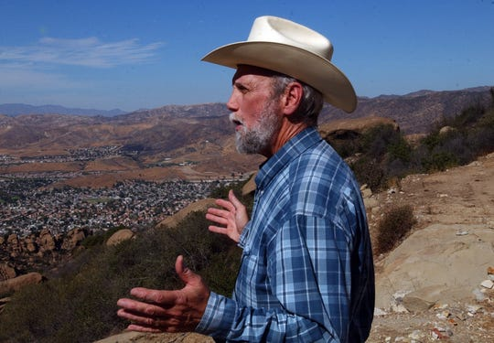 Wayne Fishback looks at Simi Valley from his property in Simi Hills, in 2008.