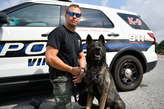 Vineland K-9 Officer William Bontcue, along with his partner, Yoshi, are retiring as a team as of Sept. 1, 2019.