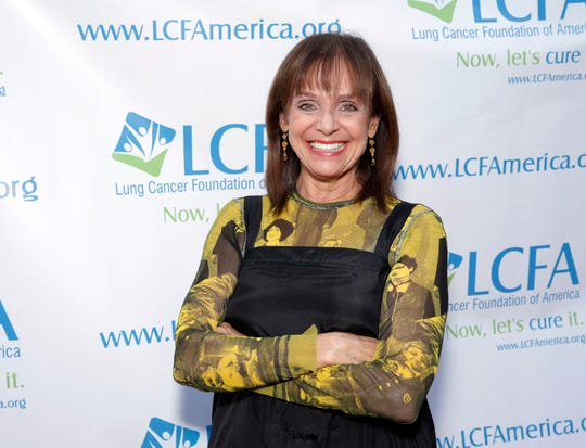 """In this Sunday, Sept. 29, 2013, file photo, Valerie Harper attends the """"Lung Cancer: Bring On The Change!"""" Event in Los Angeles. Valerie Harper, who scored guffaws and stole hearts as Rhoda Morgenstern on back-to-back hit sitcoms in the 1970s, has died, Friday, Aug. 30, 2019. She was 80."""