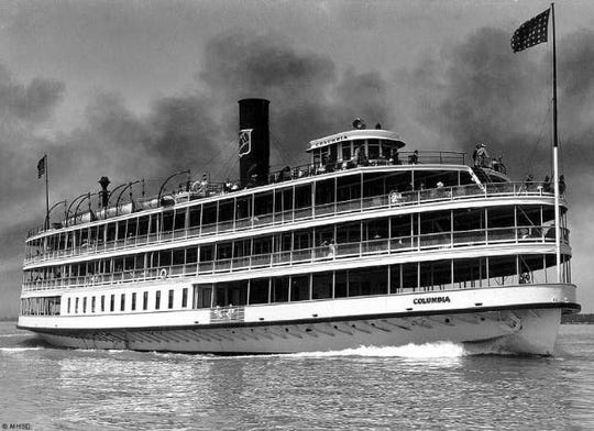 The S.S. Columbia steamship when she was in action.