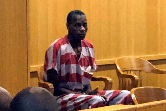 In this Wednesday, Aug. 28, 2019 photo, Alvin Kennard sits in the courtroom before his hearing in Bessemer, Ala.