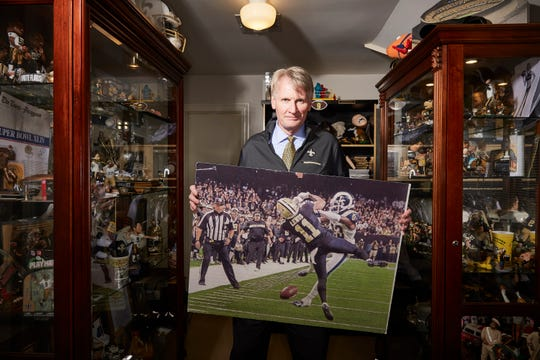 Tony Le Mon has many pieces of Saints memorabilia in his home, but perhaps the most painful one is a photo showing Tommylee Lewis being a victim of pass inference vs. the Los Angeles Rams in the NFC title game in January.