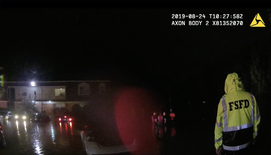 A screenshot of the bodycam footage provided to USA TODAY by the Fort Smith Police Department.