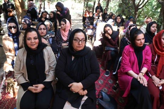 Afghan women in Herat, Afghanistan, in August 2019.