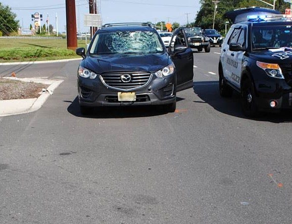 A bicyclist was injured in a crash in Stafford