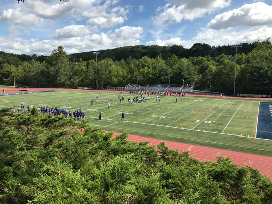 Beautiful morning for some football at Maine-Endwell, Sat., Aug. 31.