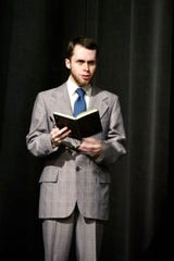 "Daniel Melin plays Justin Fogg in BCT's production of ""Go Back for Murder."""
