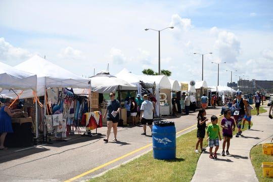 Arts Alive! hosts its third annual festival, Saturday, Aug. 31, 2019, at the Arts Center of Corpus Christi. The event included crafts, shopping, and a 1/2 K Beer Run.