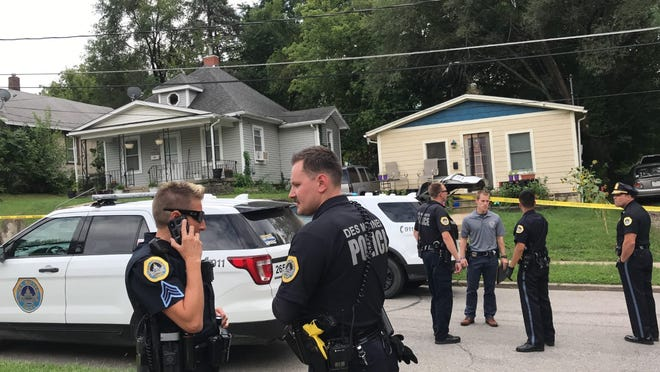 Des Moines Police respond to a shooting on Francis Ave.