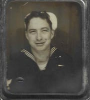 A family-favorite navy photo of William James Shanahan Jr. Family members imagine him laughing in the photo.