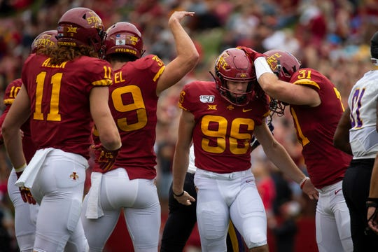 Iowa State kicker Connor Assalley is still Matt Campbell's go-to guy ... at least from short distance.
