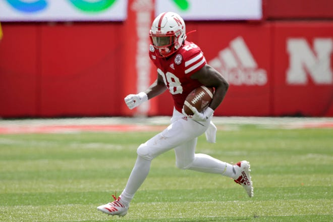 Nebraska running back Maurice Washington, who faces pornography charges in California stemming from an incident in high school, entered the No. 24 Cornhuskers' game against South Alabama in the third quarter Saturday.