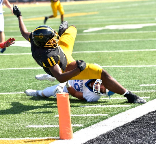 Peny Boone, seen here earlier in the season, ran wild for Detroit King, rushing for 170 yards and four touchdowns on 14 carries
