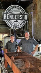 Matt Watson and head brewer and co-founder Doug Laramie at the Henderson Brewing Co.