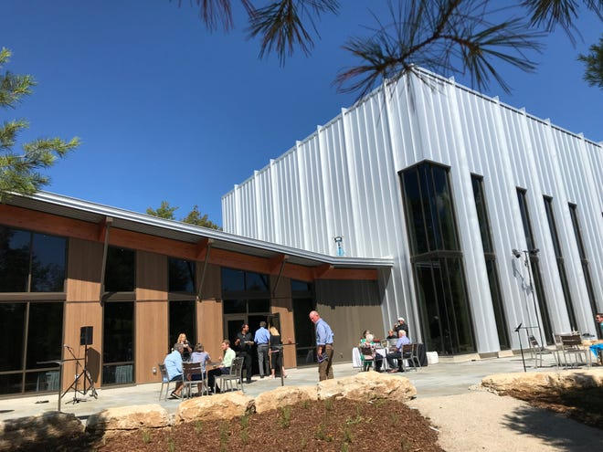 The exterior of the new Northern Sky Theater Creative Center and Barbara and Spencer Gould Theater.