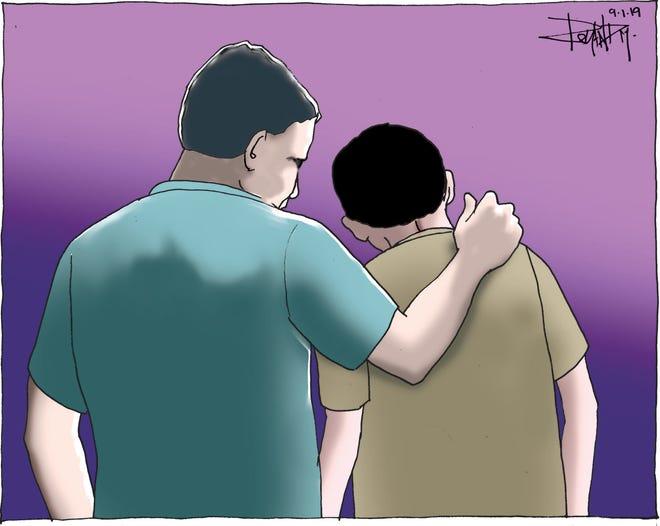 Sunday cartoon on suicide prevention.