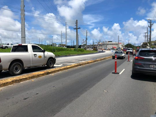 Motorists in the tri-intersection in Barrigada area can expect to experience a delay in traffic due to a paving project.
