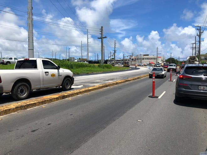 Motoristsin the tri-intersection in Barrigada area can expect to experience a delay in traffic due to a paving project.