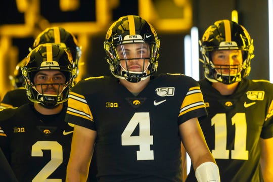 Nate Stanley (4) and the Hawkeyes will be thrown into Big Ten Conference play with Saturday's 11 a.m. game against Rutgers. The game will be televised on Fox Sports 1.