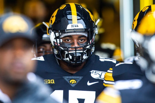 Iowa safety Devonte Young, walking on to the field before the home opener this season, has been a four-year mainstay on special teams. He will be one of 19 seniors honored before Saturday's game against Illinois. Iowa coach Kirk Ferentz knows how important he's been.