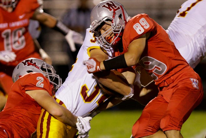 Through three games, Jaxon Deutsch (89) leads West Lafayette in tackles.