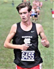 Mansfield Christian's Clay Reynolds ran a 17:57.78 during Saturday's Mid-Buckeye Conference championships to earn individual champ honors.